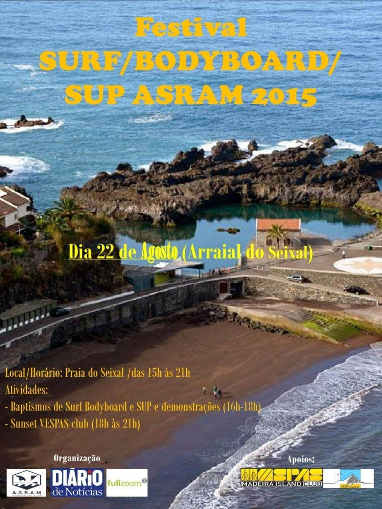 Cartaz Festival Surf BB SuP ASRAM 2015